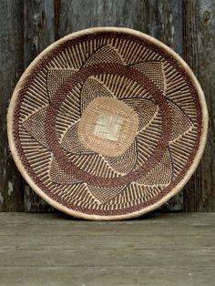 Africa |  Basket from the Binga region of Zimbabwe | Natural fiber