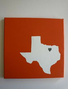 I remember having to paint my state's shape in my middle school art class.  I wonder if my Mom kept it.  I could slap a heart on it and it would be done!