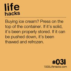 Buying The Perfect Ice Cream Buying Cream Ice lifehacks lifehacksforclothes lifehacksforkitchen perfect is part of Useful life hacks - Hacks Diy, Food Hacks, Cleaning Hacks, Food Tips, Simple Life Hacks, Useful Life Hacks, 1000 Life Hacks, Survival Tips, Survival Quotes