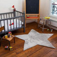alfombra infantil estrella gris - minimoi