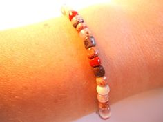 Simple earth tone beaded bracelet in shades by VazJewelryOriginals