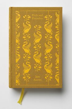 Pride and Prejudice from Anthropologie. I've seen both the BBC version & the Keira Knightly version of the movie (I prefer the BBC version, it's a classic). I thought it was about time to read the original story. $20