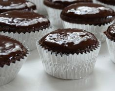 Chocolate Chip and Mascarpone Cupcakes - Giada De Laurentiis from Food.com: Chocolate lovers will love these (Chocolate cupcakes with chocolate chips topped with a chocolate ganache!). This is one of Giada's recipes. It makes a lot so it's good to bring to a party.