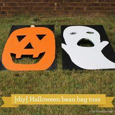 {DIY} Fall Carnival Bean Bag Toss http://loridanelle.com/diy/fall-carnival-bean-bag-toss/#
