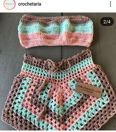 Crochet Bra, Love Crochet, Crochet Crafts, Crochet Dolls, Crochet Clothes, Crochet Summer Tops, Crochet Crop Top, Crop Top Pattern, Hippie Outfits