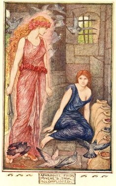 """""""Cupid and Psyche."""" The Red Romance Book. Ed. Andrew Lang. Illus. Henry J. Ford. New York: Longmans, Green, and Co., 1921"""