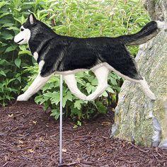 3 Coat Styles-Siberian Husky Dog Figure Garden Stake.Home Yard & Garden Decor Products & Gifts
