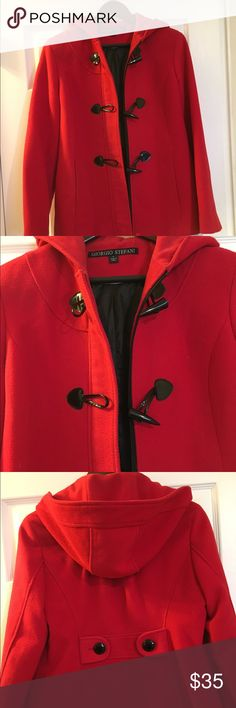 Trench coat Very nice and beautiful red trench coat. Georgio Stefani Jackets & Coats Trench Coats