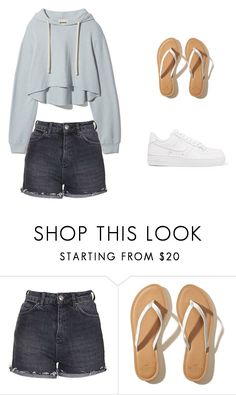 """""""Another Day 35"""" by iliveforsomething on Polyvore featuring Topshop, Hollister Co. and NIKE"""