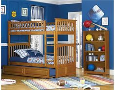 Atlantic Furniture Columbia Bunk Bed with a Raised Panel Trundle www.DEQOR.com