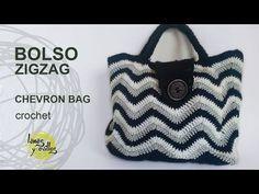 Basket or bag to step Crochet fettuccia - YouTube