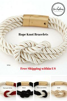 Rope Knot Bracelets are a symbol of love and eternity, with no beginning and no End. It's a Love Knot that represents eternal Love between 2 lovers.