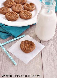 2 Ingredient Almond Butter Cookies  #justeatrealfood #mywholefoodlife