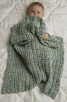 Free Crochet Pattern: Speed Hook Baby Blanket. Love the colors. This is a great beginner blanket.