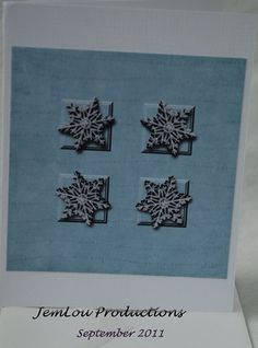 Snowflake Card by JemLouProductions on Etsy, $3.00