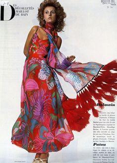 """Balmain, Vogue, """"Décolletés Maillot de Bain"""", 1970"""