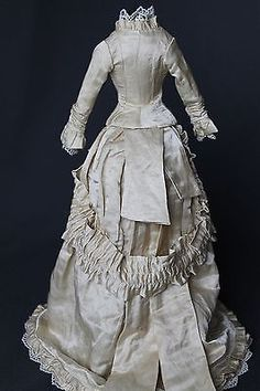 """Click on eBay link for more images/info  Antique Dress for French Fashion Doll 14 16 """" 