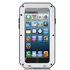 iPhone 5 Case iPhone 5S Case Ambox Waterproof Shockproof DustDirt Proof Aluminum Metal Military Heavy Duty Protection Cover Case for Apple iPhone 5 SS White >>> See this great product. Note: It's an affiliate link to Amazon