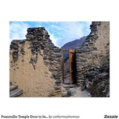 Pumatallis Temple Door to Inca Trail, Peru Postcard