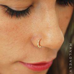 Nose Ring Hoop Gold oder Silber Nase Hoop Nase von maylovely