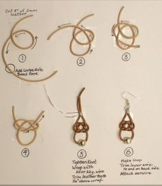 Judy Larsons Leather Celtic Knot Earrings Tutorial - The Beading Gems Journal                                                                                                                                                                                 Mais