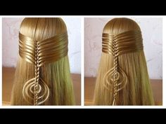 ★ Tuto coiffure simple cheveux long ★ Coiffure tresse facile a faire soi meme - YouTube