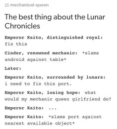 The Lunar Chronicles by Marissa Meyer This Is A Book, Love Book, Book Memes, Book Quotes, Good Books, My Books, Teen Books, The Lunar Chronicles, Lunar Chronicles Headcanons