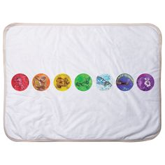 Soft Colorful Blanket to wrap the biggest love and keep her warm. The design is the 7 chakra animals for a balanced and happy life from birth. Chakra Colors, Big Love, Baby Bodysuit, Teaching Kids, Coloring Books, Bean Bag Chair, Blankets, Infant, Wraps