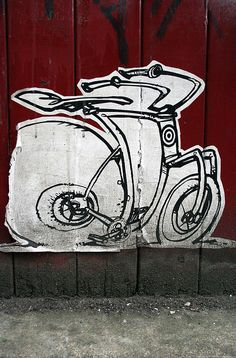 Can I leave my bike here? - Erosie by daddyw, via Flickr