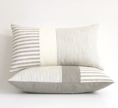 Minimal Striped Linen Lumbar Pillow | Jilian Rene Decor