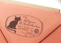 Custom Return Address Rubber Stamp - Rustica No. 4