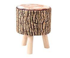 Reposapiés de madera de pino y poliéster Tronco