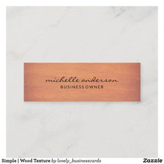 Simple | Wood Texture Mini Business Card
