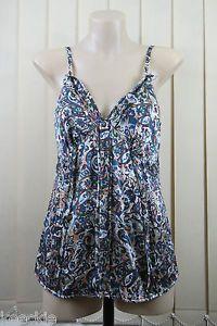 Size M 12 Esprit Ladies Silk TOP Singlet Paisley Business Cocktail Feminine | eBay