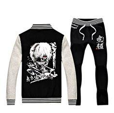 PW - Japanese Anime Tokyo Ghoul Baseball Jacket Set - Ken Kaneki (L, Black) PW http://www.amazon.com/dp/B00Q2IFARM/ref=cm_sw_r_pi_dp_Eg3Iub0YMSVYY