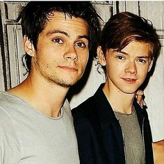 Thomas Brodie-Sangster and Dylan O'Brien Maze Runner Funny, Maze Runner The Scorch, Maze Runner Thomas, Maze Runner Cast, Maze Runner Movie, Maze Runner Series, Dylan Thomas, Dylan O'brien, James Dashner