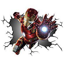 Iron Man Avengers Wandtattoo 🕸 Wanddekoration für ein Superheldenzimmer 🕸 Aufkleber Kinderzimmer 🕸 Superheld 🕸 Marvel Comic