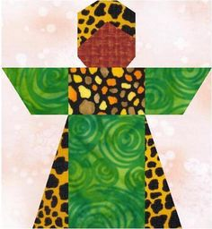 African Girl  quilt block.  | Craftsy