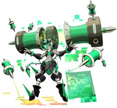 View an image titled 'Teseo Powered Up Art' in our Azure Striker Gunvolt 2 art gallery featuring official character designs, concept art, and promo pictures. Character Design References, Game Character, Character Concept, Azure Striker Gunvolt, Robot Concept Art, Arte Horror, Dragons, Fantasy Warrior, Fantastic Art