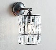 Shop pb classic sconce – adeline crystal from Pottery Barn. Our furniture, home decor and accessories collections feature pb classic sconce – adeline crystal in quality materials and classic styles. Bedroom Lighting, Sconce Lighting, Home Lighting, Best Bathroom Lighting, Lighting Sale, Custom Lighting, Lighting Ideas, Sconces Living Room, Wall Sconces