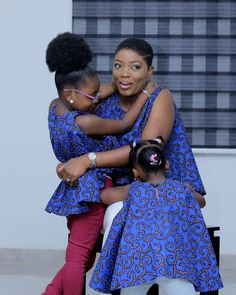 With the introduction of mini-me style looks, being on point with your mini-me requires loads of work and creativity! From matching outfits to matching fashion accessories, your little one can… African Fashion Ankara, African Print Fashion, African Dress, African Prints, African Style, Mum And Daughter Matching, Trendy Ankara Styles, Matching Couple Outfits, Matches Fashion