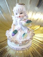 RARE Vintage TMJ September Birthday Girl Angel w/ Orig Sticker Figurine DARLING!