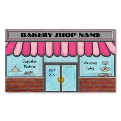 Completely customizable cute bakery shop cards business card templates #businesscards #business #customcards #bakery  ArtisticAttitude.net