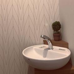 Bathroom/ナチュラル/アクセントクロス/サニタリー/壁紙/LIXIL...などのインテリア実例 - 2017-08-08 04:10:14