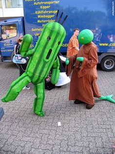 Cactuar and Tonberry Cosplay -Final Fantasy series