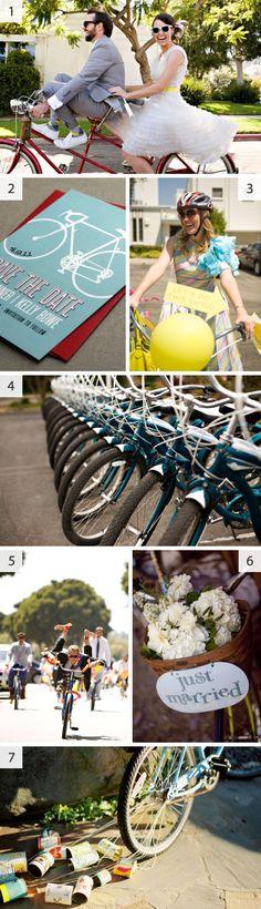 Bicycle #wedding reception or #party idea