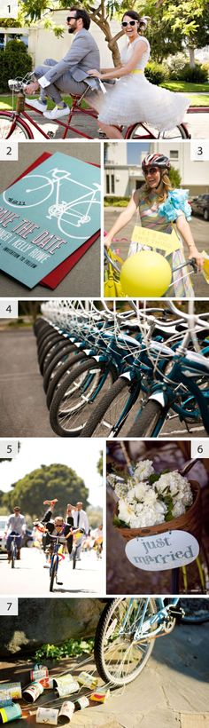 Bicycle #wedding reception or #party idea