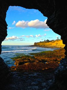 my other dorm room is a sea cave. point loma, california
