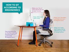 Standing (or treadmill) desks would be ideal. But here's the posture you should be aiming for if you're like the majority of us and spend your days sitting at your desk. #health #posture #sitting https://greatist.com/grow/ergonomic-tips-sitting