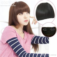 Best Quality Hair Bangs Fringes For Womens Girls Front Neat Bangs Straight Bang Ladies Fashion Hair Fringe Clip In Clip On Hair Extension Hairpiece Lh07 At Cheap Price, Online Bangs | Dhgate.Com
